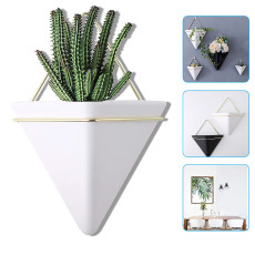 Plant Wall Hanging Pot, Geometric Planter Wall Decor Air Plant Container for Home and Office Decoration