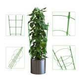 2 Pack Climbing Plant Support Cage, Garden Flowers Stand Rings, Adjustable Tomato Cage Garden Basket Plant Fixed Climbing Plant Support Ring