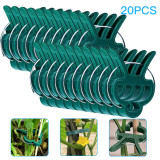 20 PCS Reusable Garden Plant Clips, Vines Flower Clips for Plant Supports Ring Stake Frame Greenhouse Gardening Supporting Stems