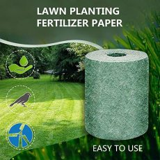 Grass Seed Mat Roll, Biodegradable Grass Grow Mat, Garden Backyard Plant Growing for Lawns and Sun Shade Not Fake or Artificial Grass
