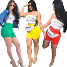 summer 2018 sexy crop top and shorts two piece set tracksuit women twotwinstyle 2 piece sets womens outfits S3348
