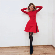Casual Fall 2018 Women Long Sleeve Bodycon Party Dresses Autumn Winter Slimming Elegant Temperament Quality Mini Dress