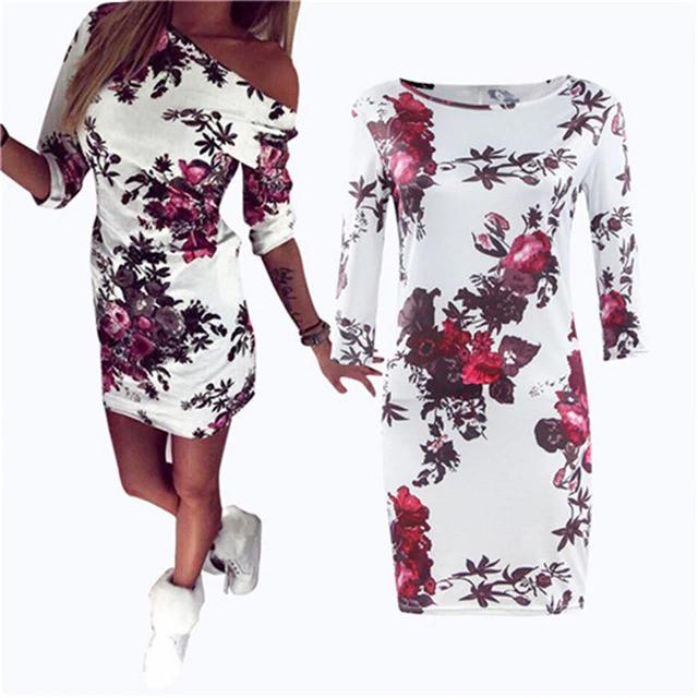 5XL Large Size Women Sweet Cartoon Dress Casual Print Dress Sexy Slim Party Dresses Sexy Summer Plus Size Women Dress Vestidos