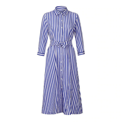 KANCOOLD Dress fashion Women 3/4 Sleeve Striped Pencil Sashes Dresses Ladies Casual Loose Party dress women 2018AUG3