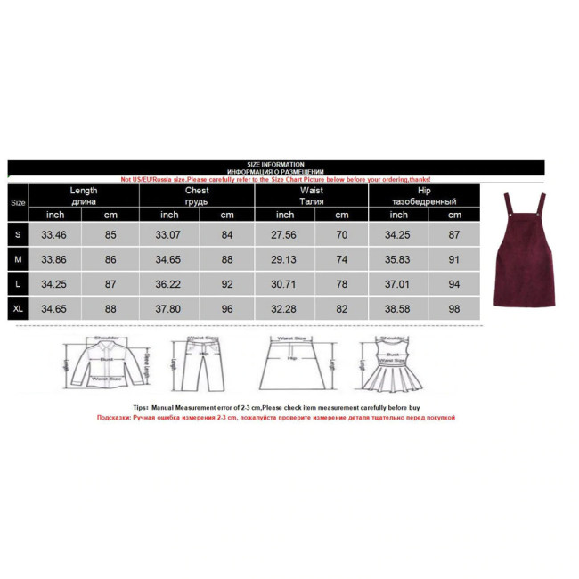 2019 Autumn Winter Women Casual Sleeveless Pocket Retro Corduroy Dress Female Vintage Party Dress Loose Suspender Sundress