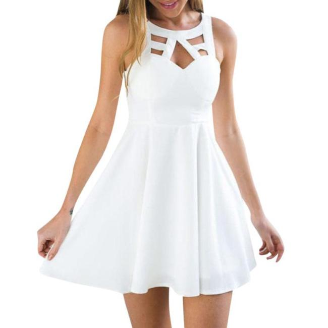 KANCOOLD dress Women Boho Back Lace Mini A-Line Sundress Sleeveless Evening Party Summer Beach dress women 2018jul20