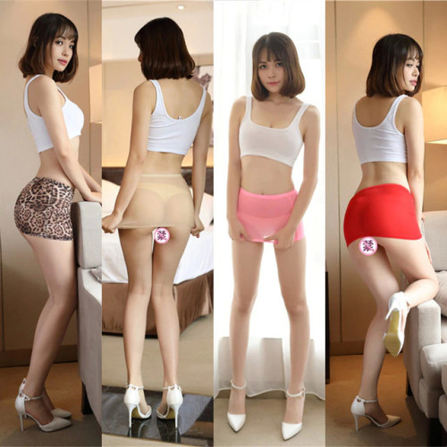 Women Sexy Micro Red Black Skirts See Through Transparent Cute Short Mini Skirt Night Club Tight Package Hip Skirt 77