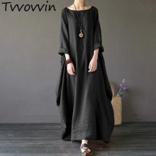 2019 Summer autumn Plus Size Dresses Women 4xl 5xl Loose long vintage Dress Boho Shirt Dress Maxi Robe fashion Female Q293
