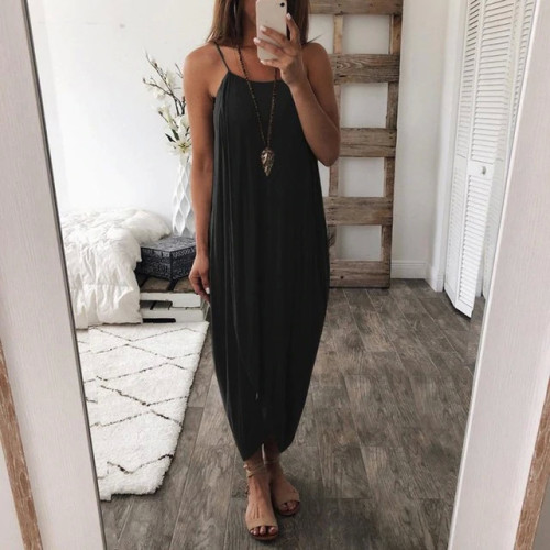 KANCOOLD dress Women Summer Loose Straps Sleeveless Dress Elegant Holiday Casual Party Beach dress women 2018jul20