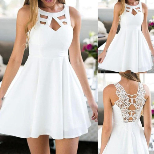 KANCOOLD dress Women Boho Back Lace Mini A-Line Sundress Sleeveless Evening Party Summer Beach dress women 2018jul20