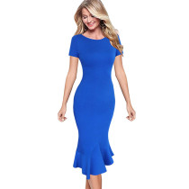 Vfemage Womens Elegant Vintage Summer Pinup Wear To Work Office Business Casual Cocktail Party Fitted Bodycon Mermaid Dress 1053