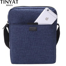 TINYAT Light Canvas Men's Shoulder Bag For 7.9' Ipad Casual Crossbody Bag Waterproof Messenger Bag Pack sling bag for men 0.13kg