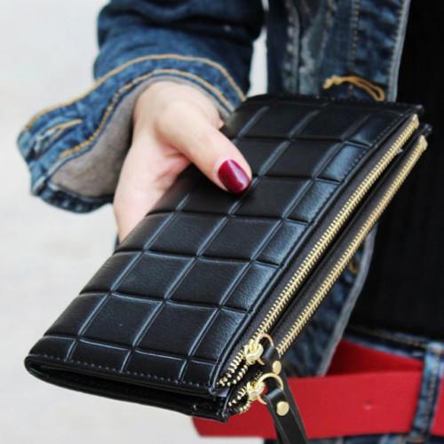 2019 New Fashion Long Pu Women Wallet Clutch Women's Purse Best Phone Wallet Female Case Phone Pocket Carteira Femme