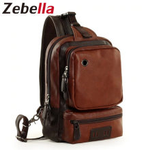 Zebella Brand Men's Shoulder Bag Vintage Men Crossbody Bag Men Chest Bags Casual Fashion PU Leather Men Messenger Bag