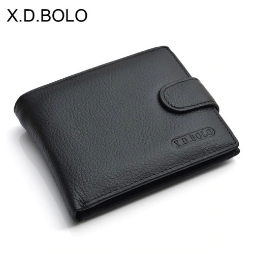 X.D.BOLO Wallet Men Leather Genuine Cow Leather Man Wallets With Coin Pocket Man Purse leather Money Bag Wallets for Male