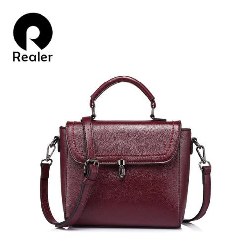REALER women messenger bag female small tote top-handle bag shoulder crossbody bags ladies designer handbag famous brands purse