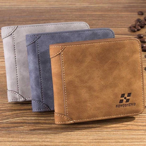 Maison Fabre Men wallet Men Leather ID credit Card holder Clutch Coin Purse Wallet Frosted short wallet 2018 NEW May16   40