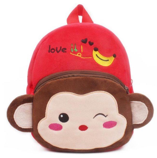 1-3Y Plush Cartoon School Bag For Girl Kindergarten Minnie Schoolbag Cute Kids Backpacks Children's Backpack