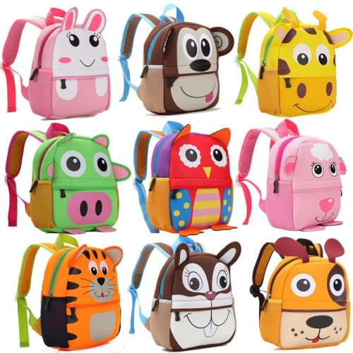 2019 New 3D Animal Children Backpacks Brand Design Girl Boys Backpack Toddler Kids Neoprene School Bags Kindergarten Cartoon Bag