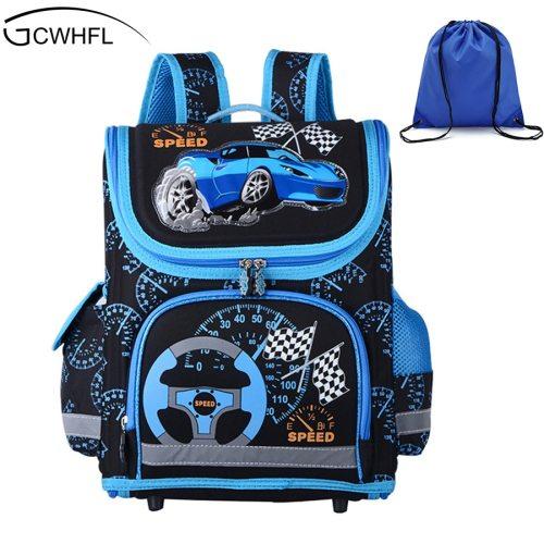 New 2019 Boys Schoolbags Kids Satchel Child School Backpack EVA Folded Orthopedic Children School Bags For Boys Mochila Infantil
