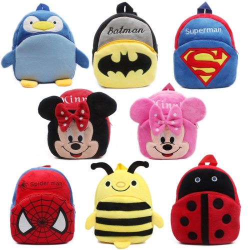 Cute baby school bag cartoon mini plush backpack for kindergarten kids boys girls gift student Children lovely schoolbag