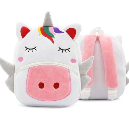 Cartoon Rainbow Unicorn Kids School Bags for Girls Soft Plush Kids Bag Kindergarten Toddler Children School Backpack for boys