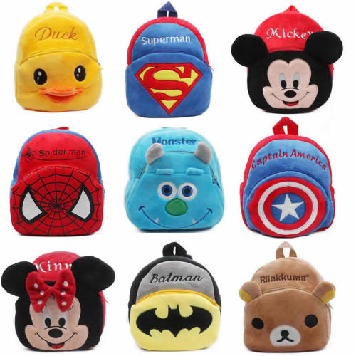 1-3Y Plush Cartoon School Bag For Girl Kindergarten Minnie Schoolbag Cute Kids Backpacks Children's Backpack