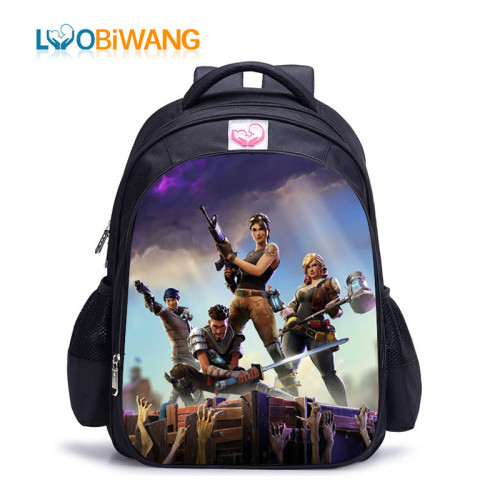 LUOBIWANG Game Battle Royale Children Schoolbag Famous Cartoon Character Backpack for Teenager Boys and Girls Mochila Infantil