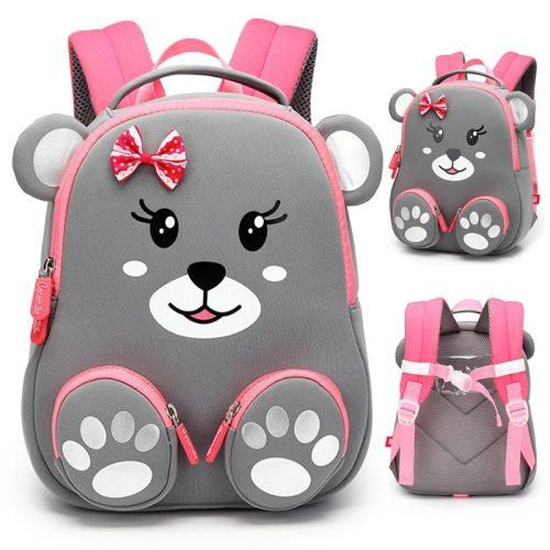 Fashion Kids School Backpack for Girls 3D Lovely Bear School Bags Cute Animals Design Children Backpacks Kids Bag Escolares