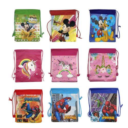 Christmas Gift Bag Cartoon School Backpack for Boy,Girl Unicorn Drawstring Bag Student book bag Kids School Bag