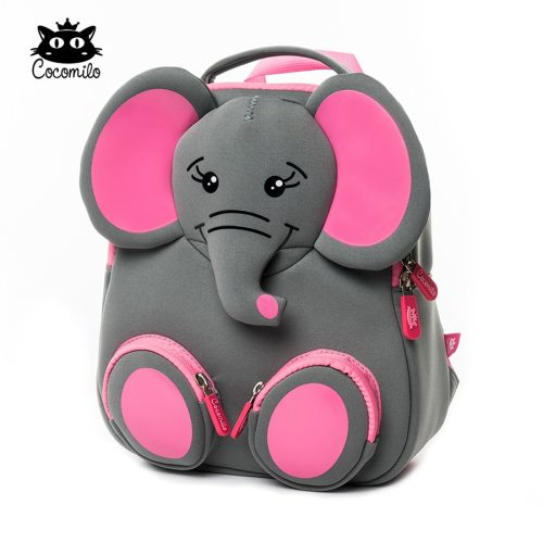 3D Happy Elephant Model School Big Waterproof Zoo Animals Design Mochila Infantil Fashion Anti Lost Gift for Toddler Kids Small