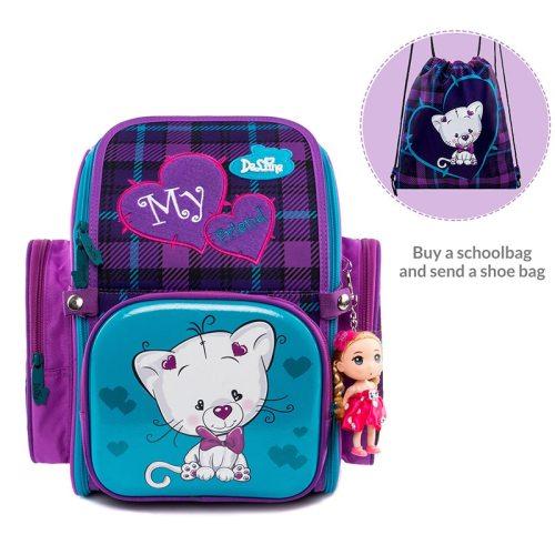 Delune Factory 5-9 Years New School Bags Orthopedic Backpack Satchel Cartoon Mochila Infantil Children School Backpack for Girls