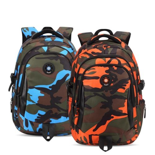 3 Sizes Camouflage Waterproof Nylon School Bags for Girls Boys Orthopedic Children Backpack Kids Bag Grade 1 - 6 Mochila Escolar