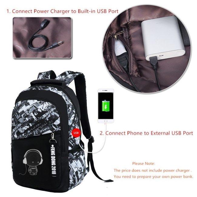 FengDong boys school bags waterproof large backpack for teenagers bagpack high school backpack for boy student chest bag set