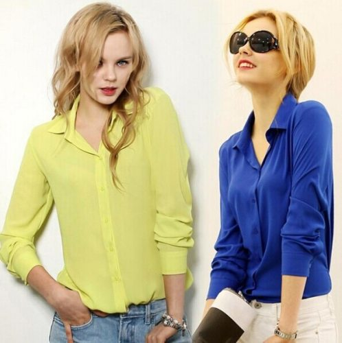 work wear women shirt blouse casual solid elegant ladies chiffon office blouse top new fashion summer formal Blusas Femininas