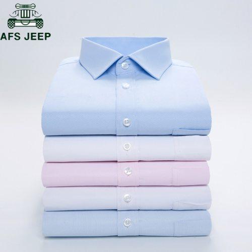 Long Sleeve Dress Shirt Men Brand Clothing Cotton High Quality Smart Casual Social Shirts White Wedding Shirt Camisa Masculina