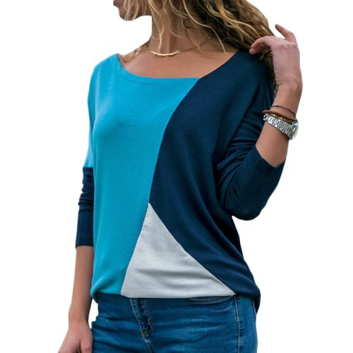 Rogi Autumn Long Sleeve Blouse Women 2019 Casual Skew Collar Patchwork Shirt Slim Office Lady Blouses Basic Tops Tee Blusas 2XL