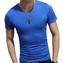 2019 New Summer Solid Men's T-shirt Fashion V Neck Short Sleeve T Shirt Men Clothing Trend Casual Slim Fit Top Tees