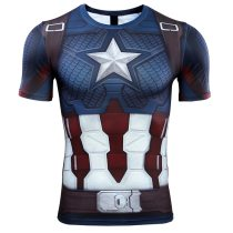 Captain American 3D Printed T shirts Men Avengers 4 Endgame Quantum War Compression Shirt Iron man Cosplay Costume Tops For Male