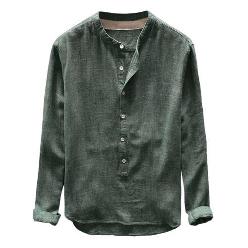 New Arrival 2019 Spring Harajuku Men Shirt Linen Cotton Long Sleeve Button Casual Shirt Men Camisa Hombre