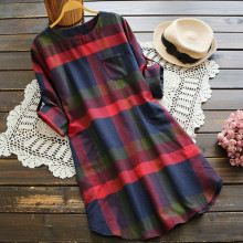 women tops Plus Size 5XL Womens Tops And Blouses Tunic shirt ladies tops Plaid Long Sleeve Long Woman Clothes 2019
