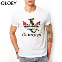 Dracarys Men T Shirts Game of Thrones Daenerys T-Shirt Mother of Dragon Khaleesi Harajuku Vintage Camisetas Aesthetic Clothes