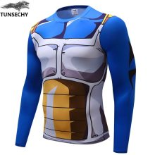 Anime Dragon Ball Z Super Saiyan Vegeta Goku T Shirt Men Dragon ball Costume Cosplay   Fitness under Tee T-Shirts homme
