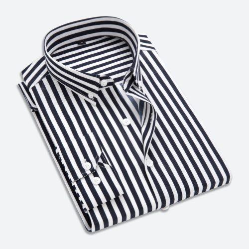 Quality Men Dress Shirt Mens Business Casual Button Down Shirts Brand Clothing Slim Fit Long Sleeve Camisa Masculina M-5XL