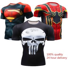 New 2018 Short Sleeve Spot Men's Civil War Compression T-shirt Marvel Avengers MMA Clothing Comics Super Men's T-Shirt Tops