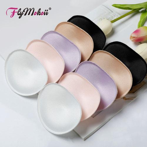 1 Pair/Lot Women Bra Padded Chest Cups Insert Breast Sponge Enhancer Push Up Bikini Invisible Foam Bra Pads for Swimsuit