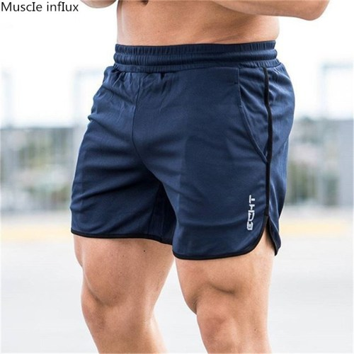 Men Fitness Bodybuilding Shorts Man Casual Gyms Workout Male Breathable Mesh Quick Dry Sportswear Jogger Beach Short Pants