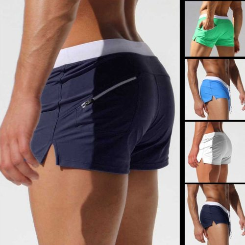 Brand Shorts Men Zipper Pocket Casual Mens Shorts Fast Dry Boardshorts Joggers Men's Trunks Summer Mens Short homme masculino