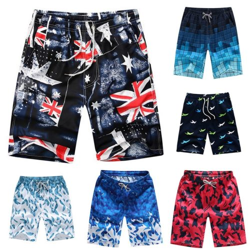 HEFLASHOR 13 Style Beach Shorts Trunks Men Summer Print Quick Dry Kilt Sportwear Short Bottom women Surfing Boardshorts swimsuit