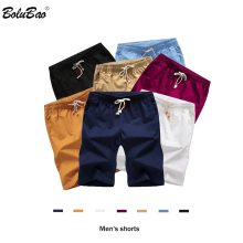 BOLUBAO Men's Shorts New Polyester Shorts For Men Summer Solid Breathable Elastic Waist Casual Male Shorts 7 Colors